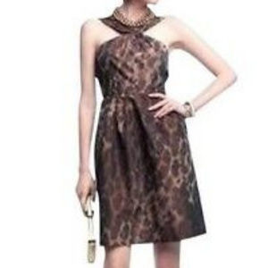 Banana Republic Leopard Print Dress  W/ POCKETS 6P